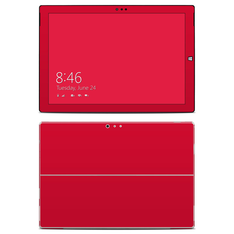 Solid State Red Microsoft Surface Pro 3 Skin