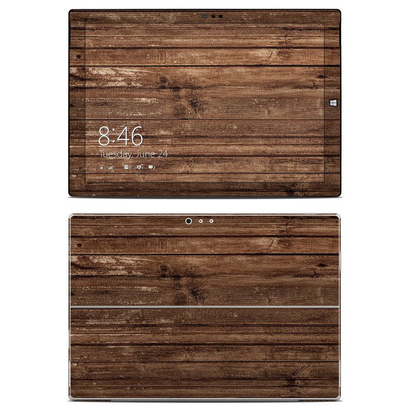 Stripped Wood Microsoft Surface Pro 3 Skin