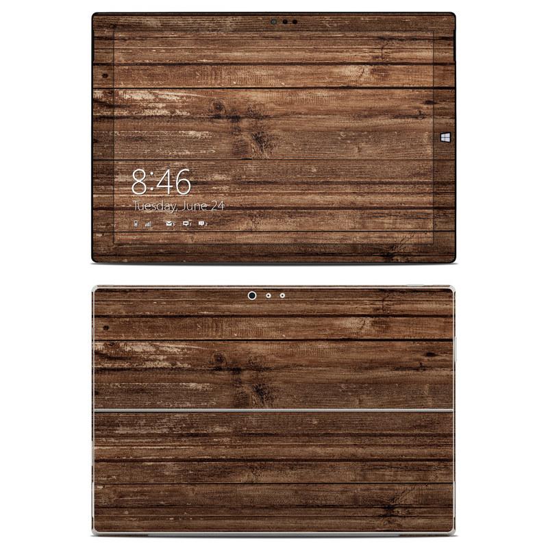 Microsoft Surface Pro 3 Skin design of Wood, Brown, Wood stain, Plank, Hardwood, Wood flooring, Line, Pattern, Floor, Flooring with brown colors