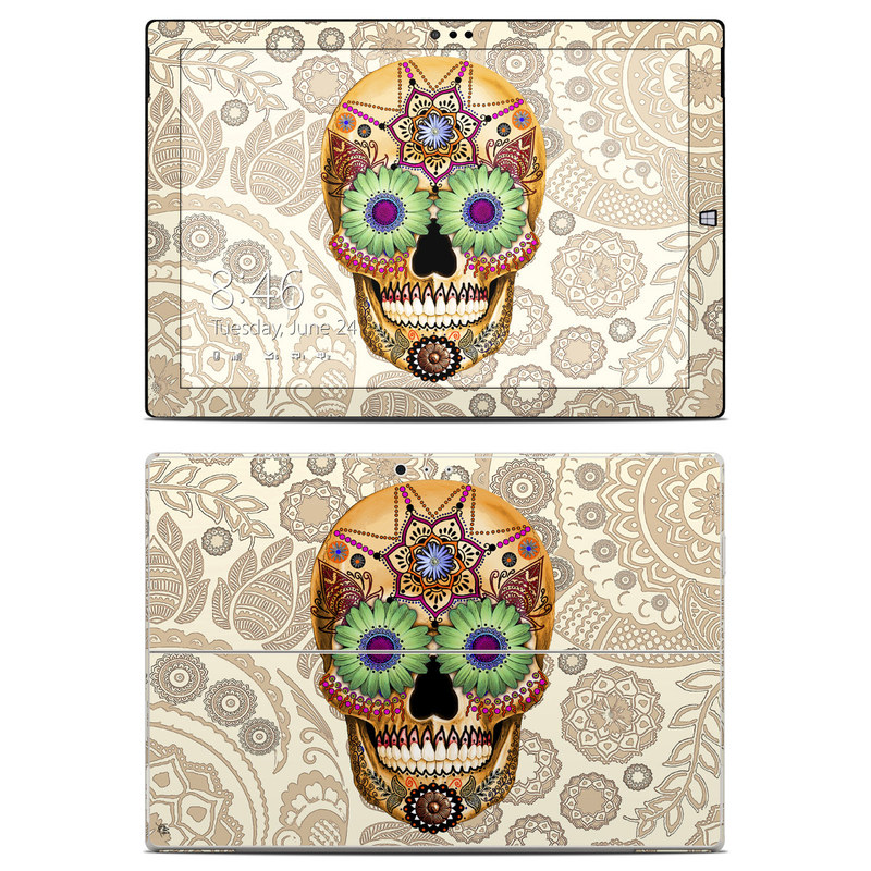 Sugar Skull Bone Microsoft Surface Pro 3 Skin
