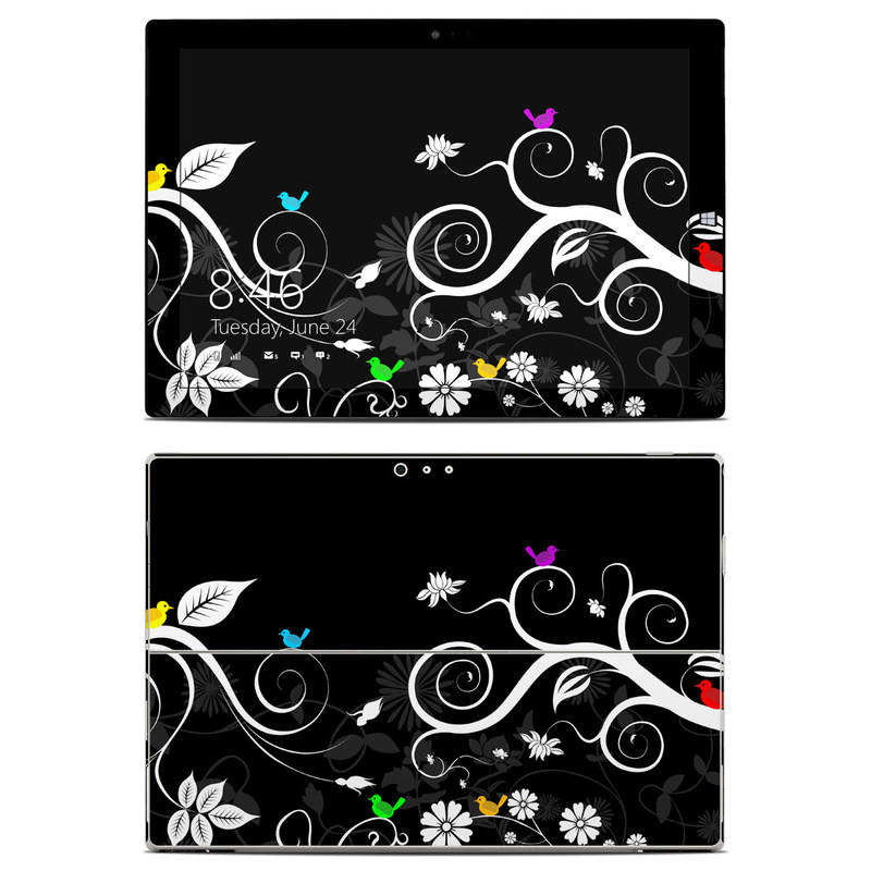 Tweet Dark Microsoft Surface Pro 3 Skin