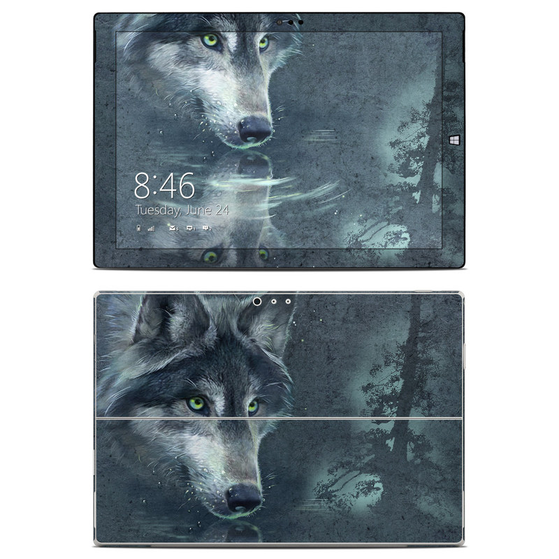 Wolf Reflection Microsoft Surface Pro 3 Skin
