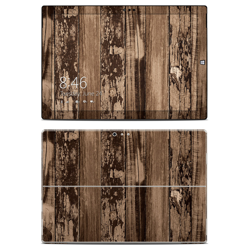 Weathered Wood Microsoft Surface Pro 3 Skin