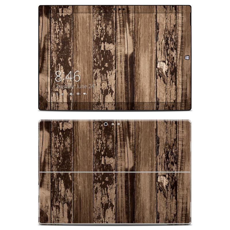 Weathered Wood Microsoft Surface Pro 3 Skin