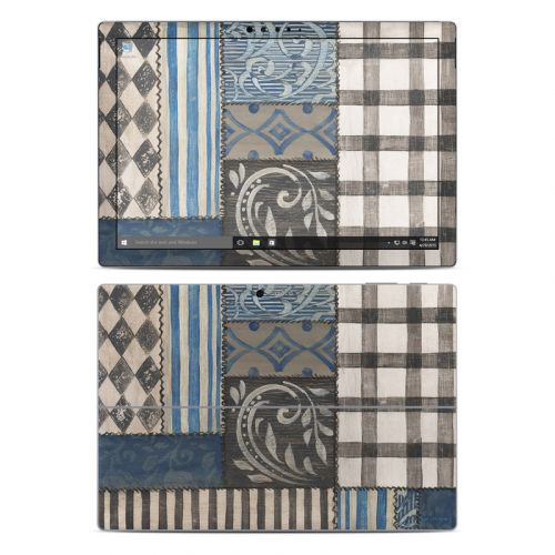 Country Chic Blue Microsoft Surface Pro 5, Pro 4 Skin