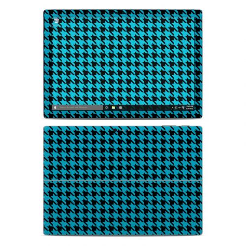 Teal Houndstooth Microsoft Surface Pro 4 Skin