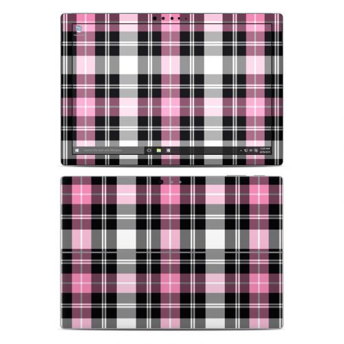 Pink Plaid Microsoft Surface Pro 4 Skin