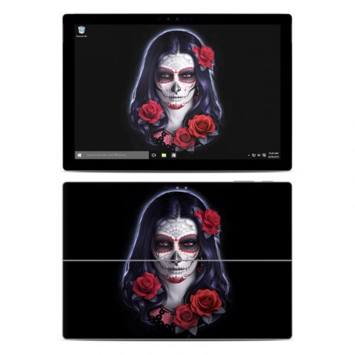 Sugar Skull Rose Microsoft Surface Pro 4 Skin