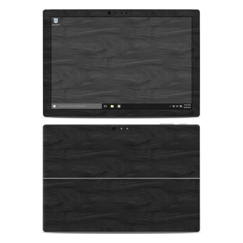 Black Woodgrain Microsoft Surface Pro 4 Skin