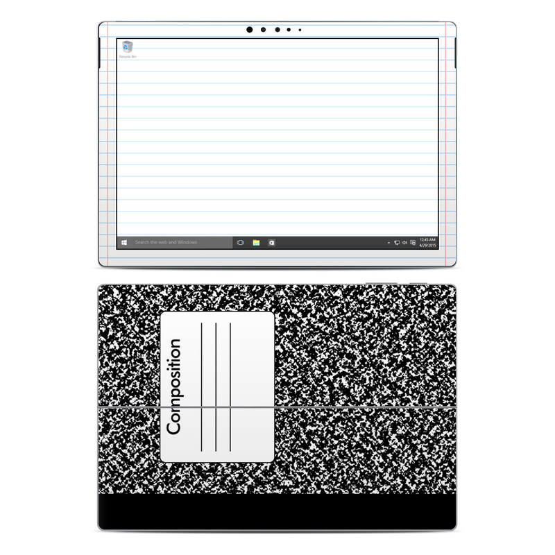 Composition Notebook Microsoft Surface Pro 5, Pro 4 Skin