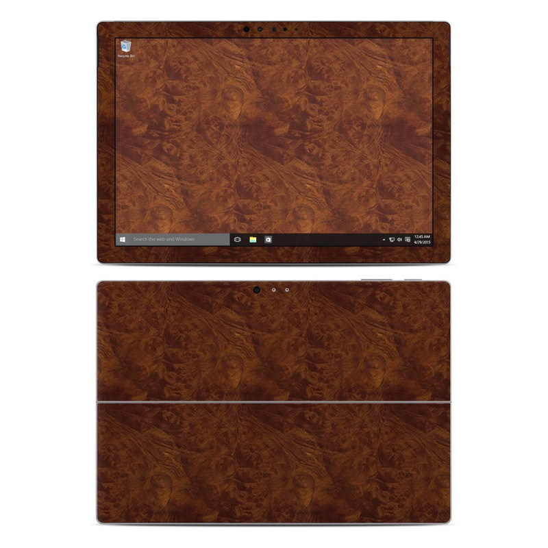 Dark Burlwood Microsoft Surface Pro 5, Pro 4 Skin