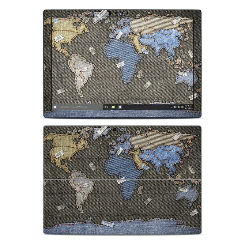 Jean Map Microsoft Surface Pro 4 Skin
