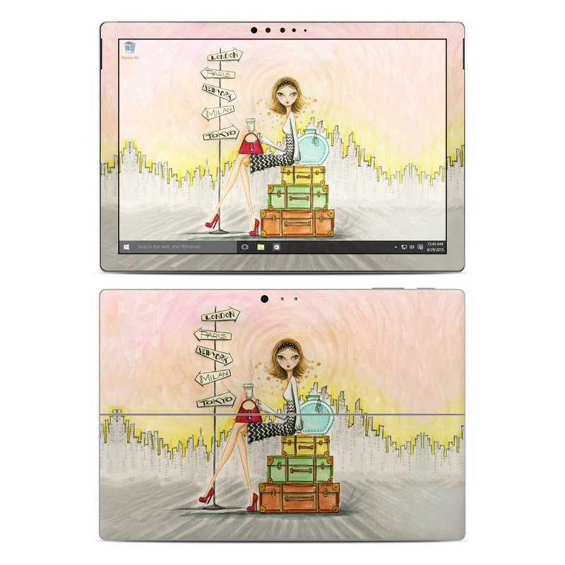The Jet Setter Microsoft Surface Pro 4 Skin