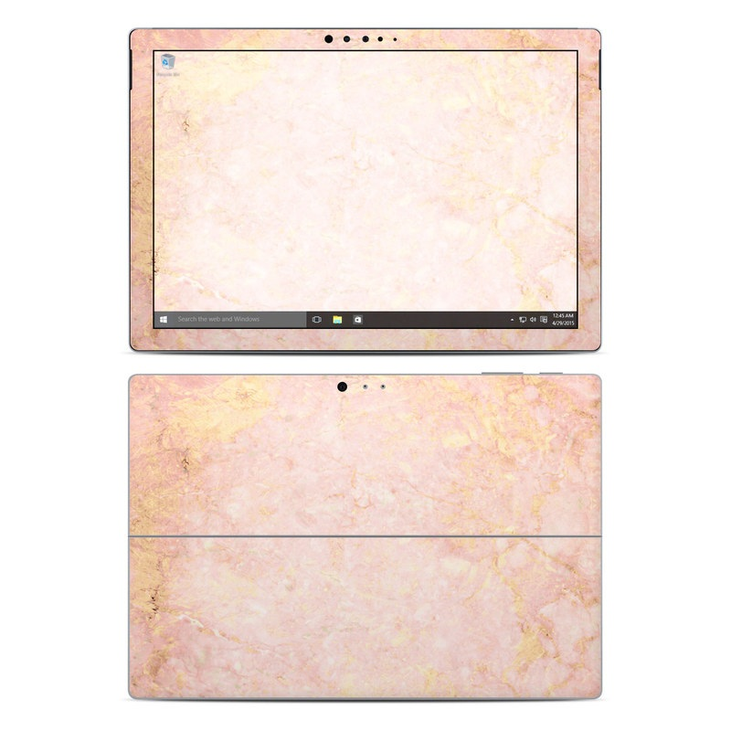 Rose Gold Marble Microsoft Surface Pro 4 Skin