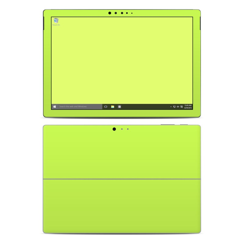 Solid State Lime Microsoft Surface Pro 4 Skin