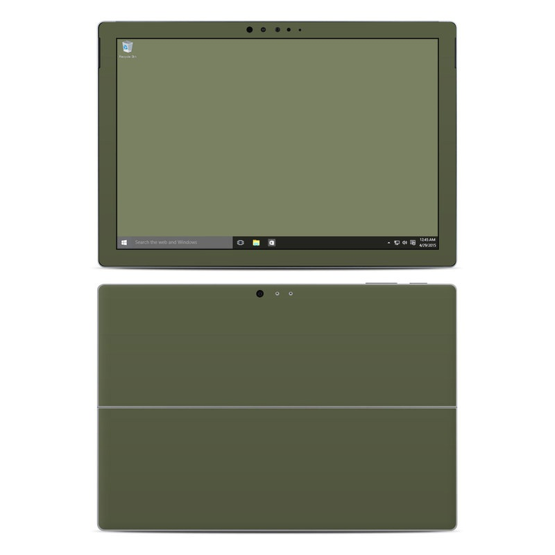Solid State Olive Drab Microsoft Surface Pro 4 Skin