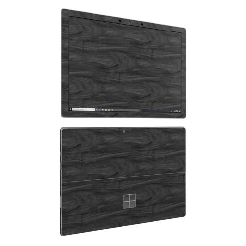 Black Woodgrain Microsoft Surface Pro 6 Skin