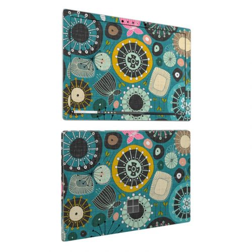 Blooms Teal Microsoft Surface Pro 6 Skin