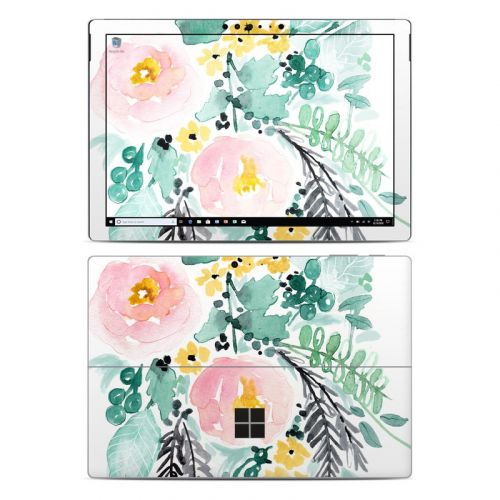 Blushed Flowers Microsoft Surface Pro 6 Skin