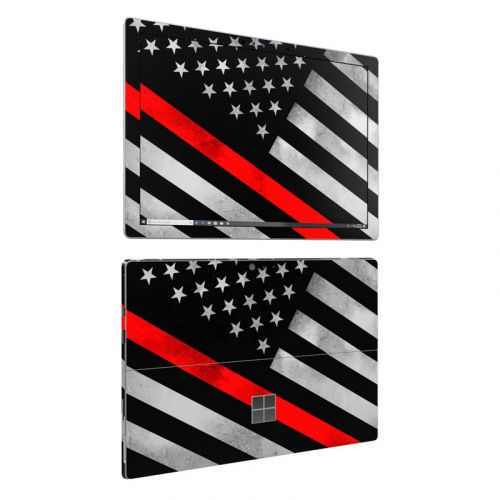 Thin Red Line Hero Microsoft Surface Pro 6 Skin
