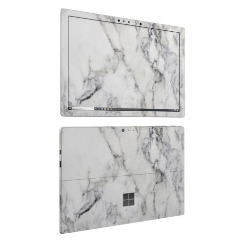 White Marble Microsoft Surface Pro 6 Skin