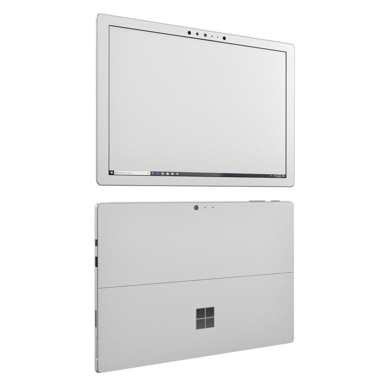 Microsoft Surface Pro 6 Skin design of White, Black, Line with white colors