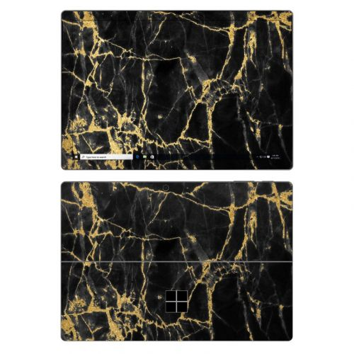 Black Gold Marble Microsoft Surface Pro 7 Skin