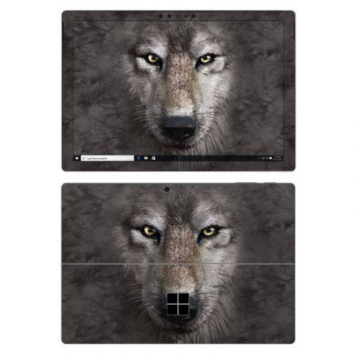Grey Wolf Microsoft Surface Pro 7 Skin