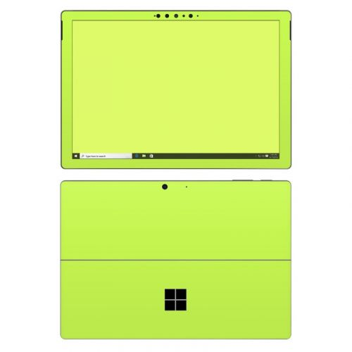 Solid State Lime Microsoft Surface Pro 7 Skin