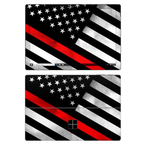Thin Red Line Hero Microsoft Surface Pro 7 Skin