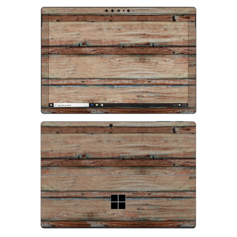 Microsoft Surface Pro 7 Skin design of Wood, Wood stain, Plank, Lumber, Hardwood, Plywood, Pattern, Siding with brown colors