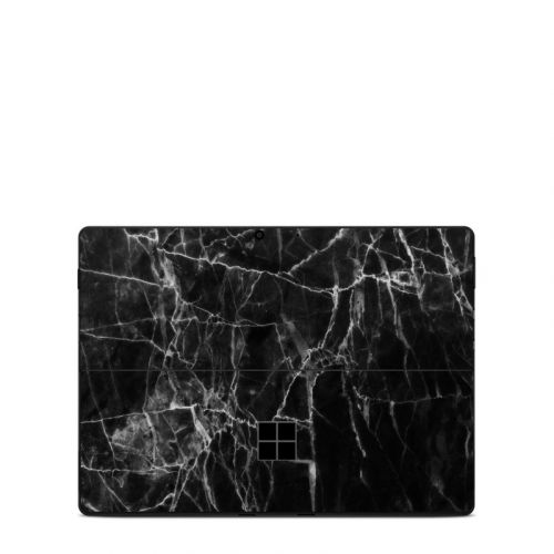 Black Marble Microsoft Surface Pro X Skin