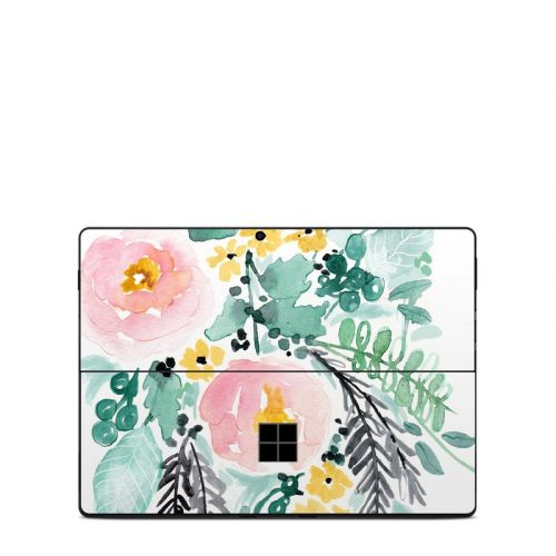 Blushed Flowers Microsoft Surface Pro X Skin