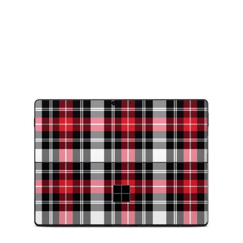 Red Plaid Microsoft Surface Pro X Skin
