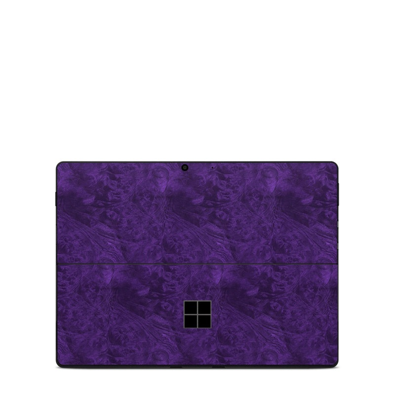 Microsoft Surface Pro X Skin design of Violet, Purple, Lilac, Pattern, Magenta, Textile, Wallpaper with black, blue colors