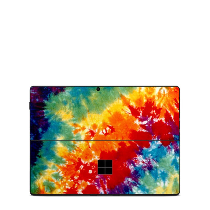 Microsoft Surface Pro X Skin design of Orange, Watercolor paint, Sky, Dye, Acrylic paint, Colorfulness, Geological phenomenon, Art, Painting, Organism with red, orange, blue, green, yellow, purple colors