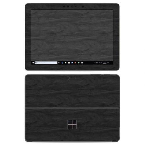 Black Woodgrain Microsoft Surface Go Skin