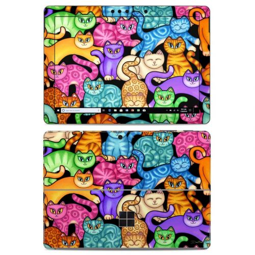 Colorful Kittens Microsoft Surface Go Skin