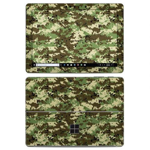 Digital Woodland Camo Microsoft Surface Go Skin