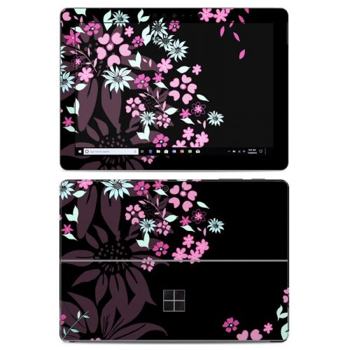 Dark Flowers Microsoft Surface Go Skin