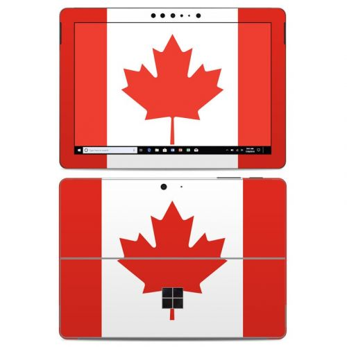 Canadian Flag Microsoft Surface Go Skin