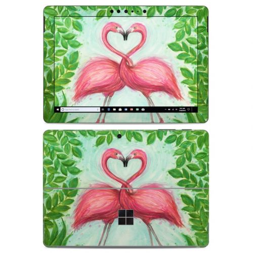 Flamingo Love Microsoft Surface Go Skin