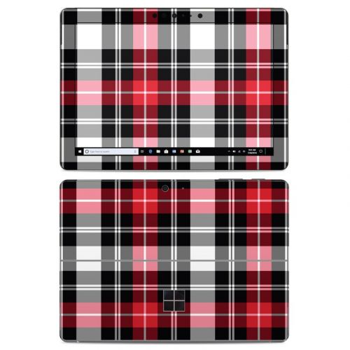 Red Plaid Microsoft Surface Go Skin
