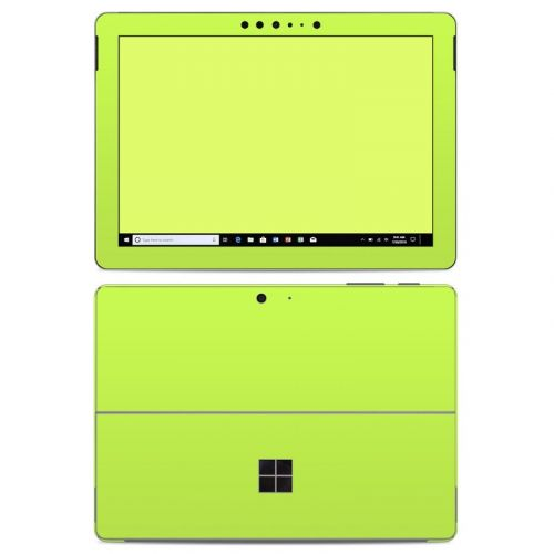 Solid State Lime Microsoft Surface Go Skin
