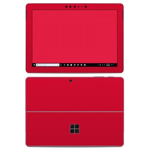 Solid State Red Microsoft Surface Go Skin