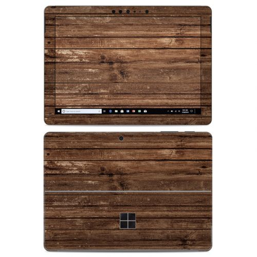 Stripped Wood Microsoft Surface Go Skin