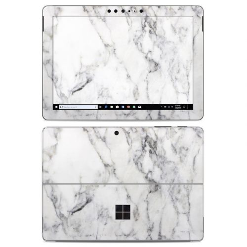 White Marble Microsoft Surface Go Skin