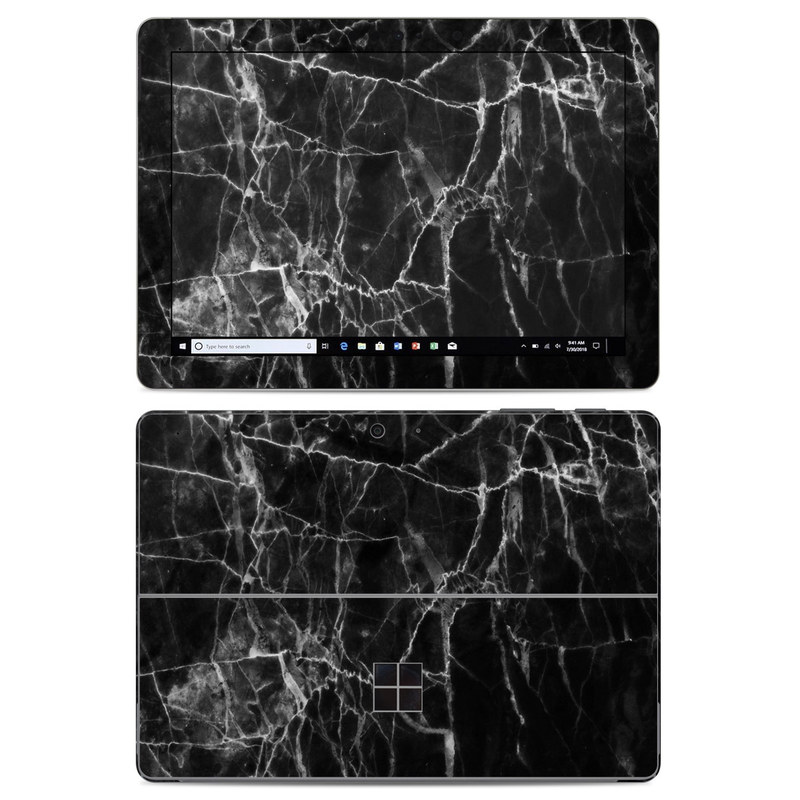 Microsoft Surface Go Skin design of Black, White, Nature, Black-and-white, Monochrome photography, Branch, Atmosphere, Atmospheric phenomenon, Tree, Sky with black, white colors