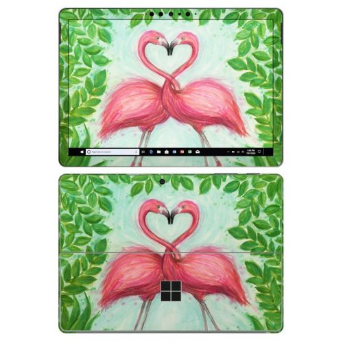 Flamingo Love Microsoft Surface Go 2 Skin