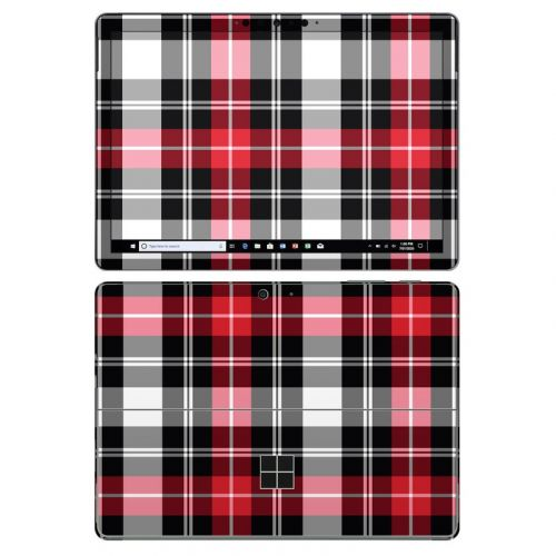 Red Plaid Microsoft Surface Go 2 Skin